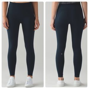 Lululemon Flow & Go Tight Blue Navy Nocturnal Teal
